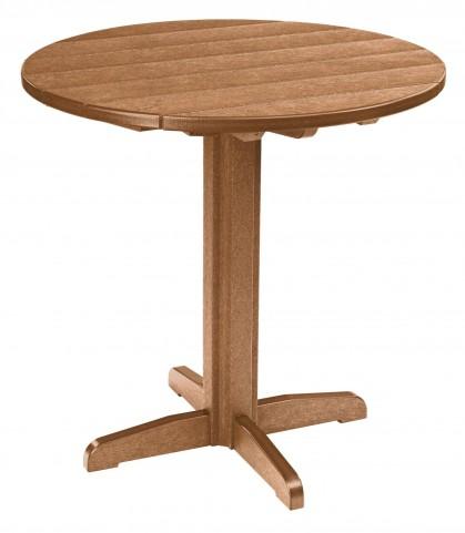 "Generations Cedar 37"" Round Pub Height Pedestal Table"