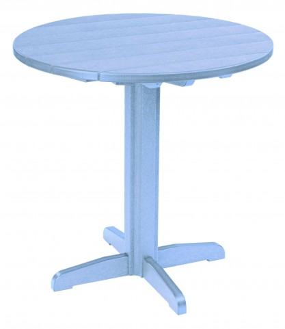"""Generations Sky Blue 37"""" Round Pub Height Pedestal Table"""