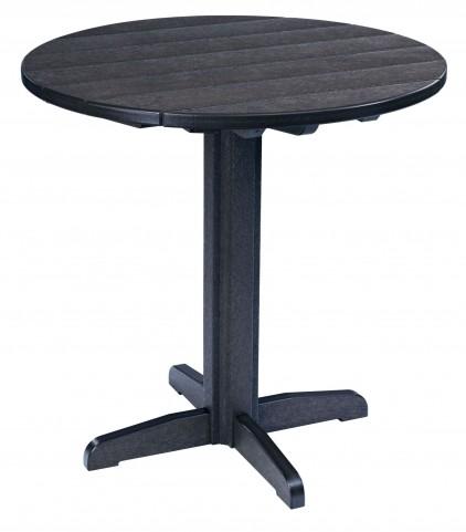 "Generations Black 37"" Round Pub Height Pedestal Table"