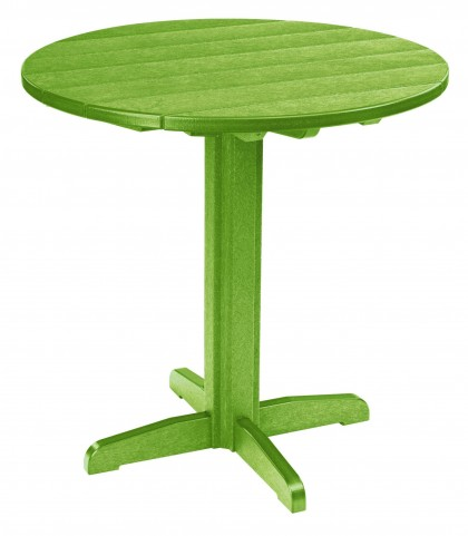 "Generations Kiwi 37"" Round Pub Height Pedestal Table"