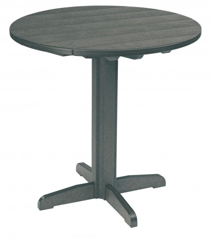 "Generations Slate Grey 37"" Round Pub Height Pedestal Table"