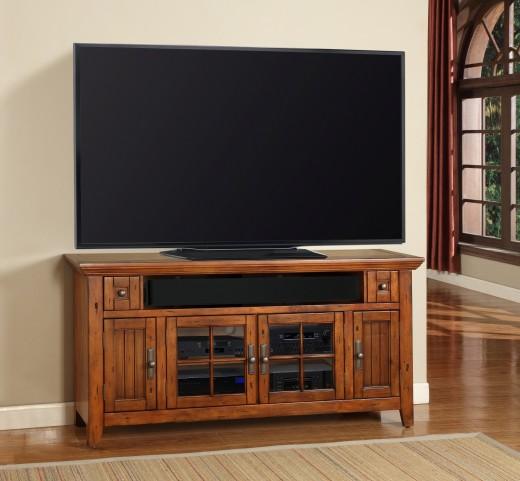 """Terrace 62"""" Antique Vintage Oak TV Console"""