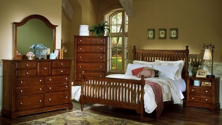 The Cottage Collection Cherry Slat Poster Bedroom Set