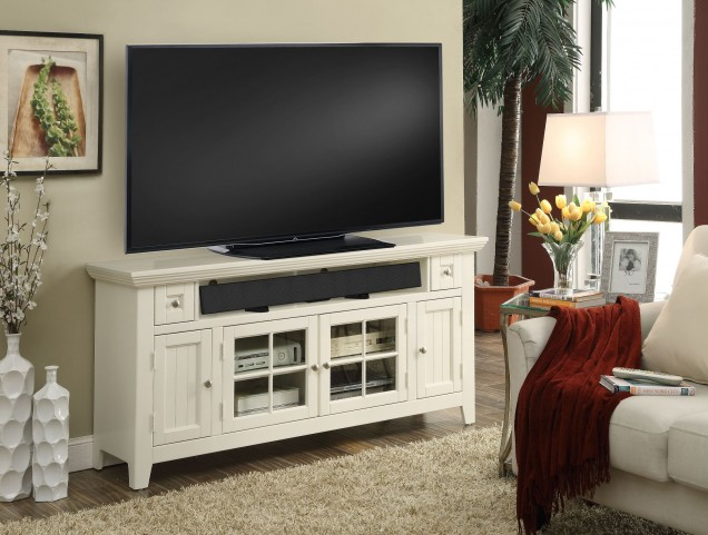 "Tidewater Vintage White 62"" TV Console"