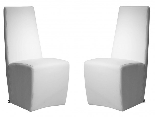 Ritz Tobi White Synthetic Leather Dining Chair Set of 2