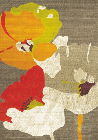 Topaz Watercolor Flowers Texture Rug