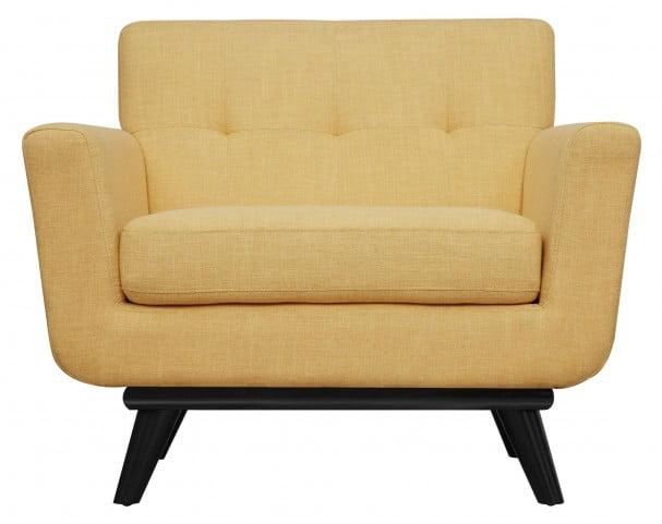 James Mustard Yellow Linen Chair