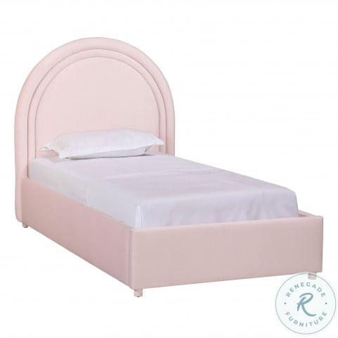 Gumdrop Blush Velvet Youth Panel Bedroom Set