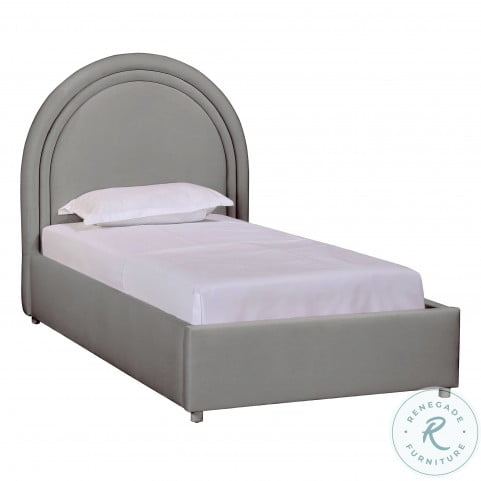 Gumdrop Grey Velvet Youth Panel Bedroom Set