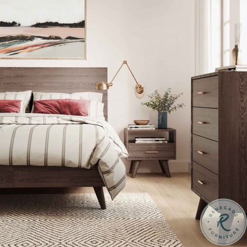Loft Wooden Washed Grey 4 Drawer Chest