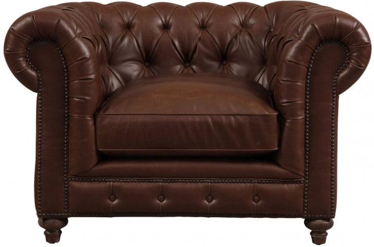 Durango Antique Brown Leather Club Chair
