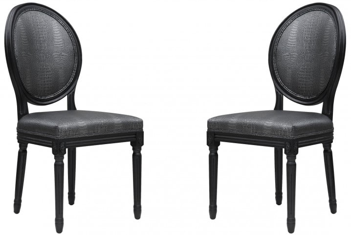 Philip Croc Dining Chair Set of 2