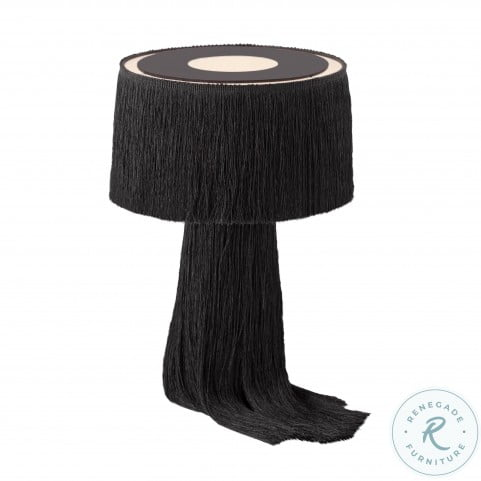 Atolla Black Tassel Table Lamp