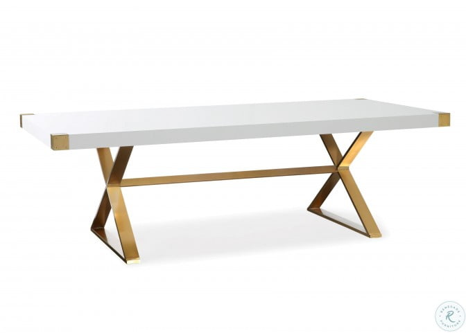 Adeline White And Gold Dining Table From Tov Coleman Furniture