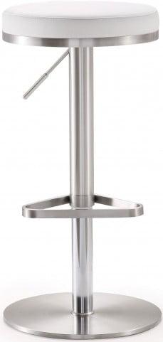 Fano White Stainless Steel Adjustable Barstool