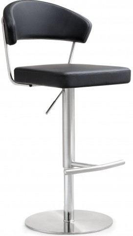 Cosmo Black Stainless Steel Barstool