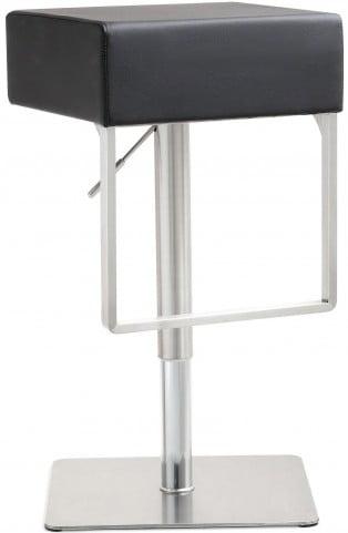 Seville Black Stainless Steel Barstool