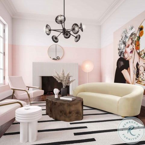 Serenity Oatmeal Velvet Sofa
