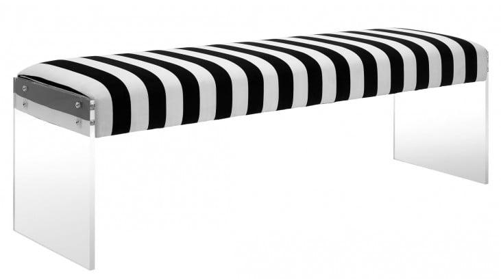 Envy Paris Velvet/Acrylic Bench