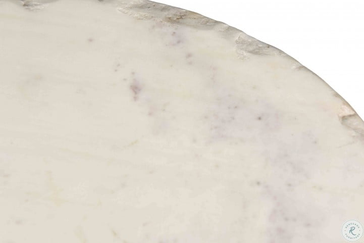 Orbital White Marble Occasional Table Set