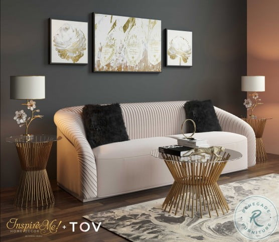 Grace Gold Glass Coffee Table