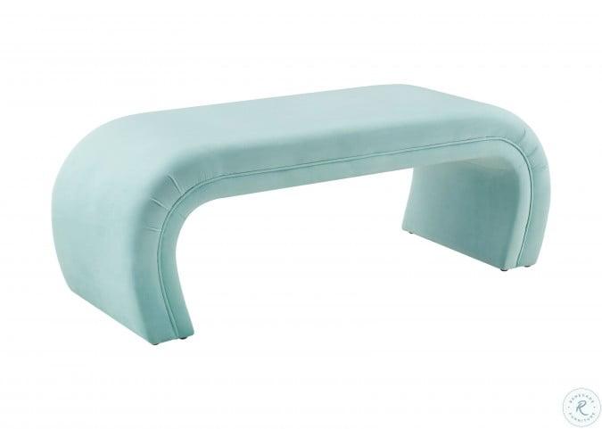 Kenya Bright Blue Velvet Bench