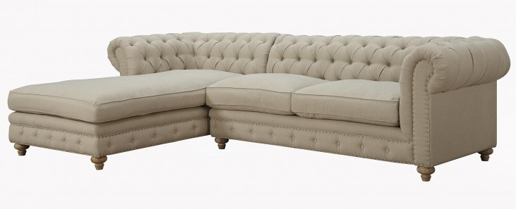 Oxford Beige Linen LAF Sectional