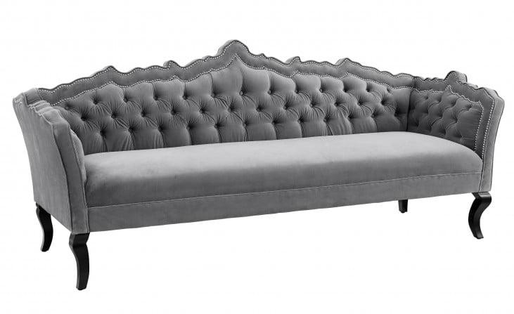 Brooks Grey Velvet Sofa