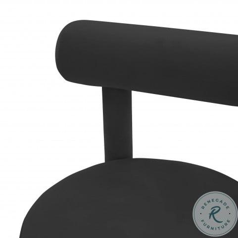 Carmel Black Velvet Chair