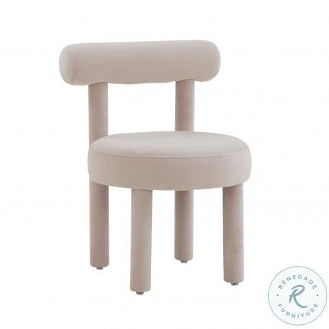 Carmel Blush Velvet Chair