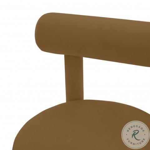 Carmel Cognac Velvet Chair