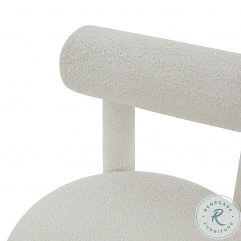 Carmel White Boucle Chair
