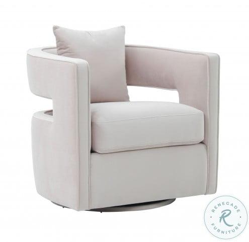Kennedy Blush Velvet Swivel Chair