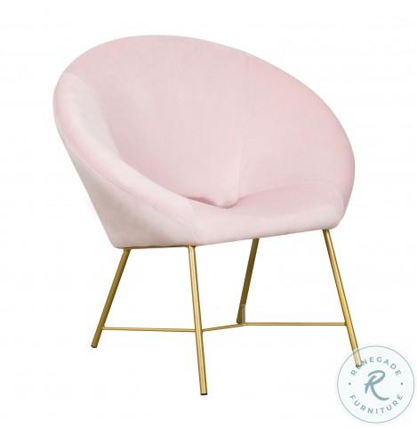 Nolan Blush Velvet Accent Chair