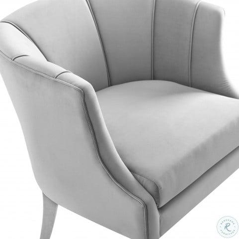 Turin Grey Velvet Chair