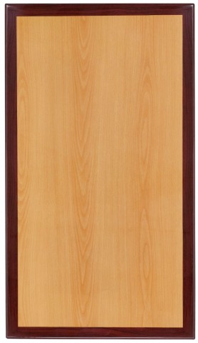 """24""""W Rectangular Two-Tone Resin Cherry and Mahogany Table Top"""