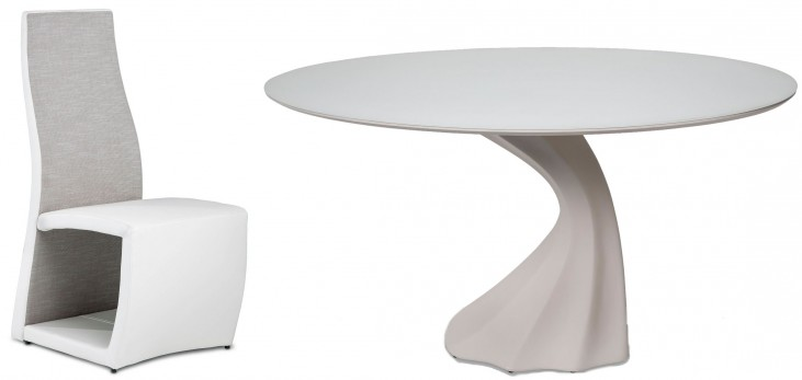 Trance Cosmo White Oval Dining Room Set