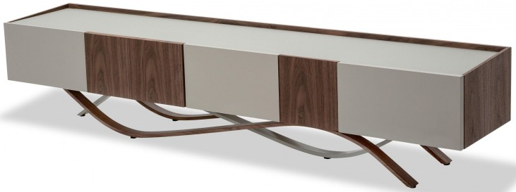 Trance Rapture Brown and White TV Console