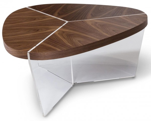 Trance Sector Brown Tall Triangular Cocktail Table