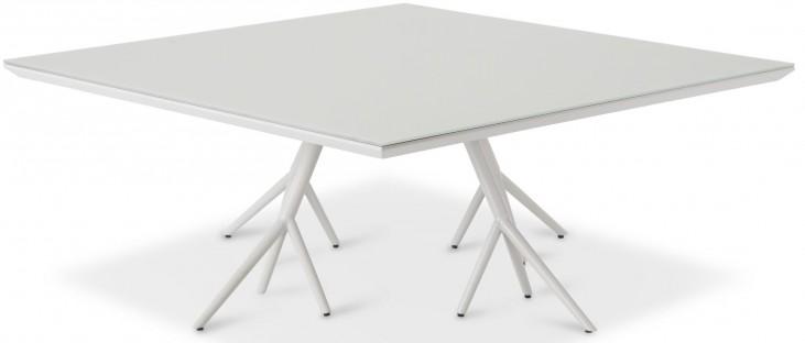 Trance Soho White Square Cocktail Table