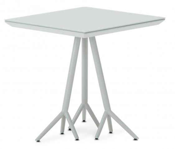 Trance Soho White Square End Table