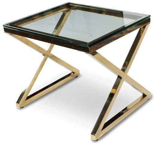 Trance Stacy Brass End Table