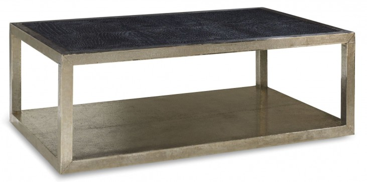 Treviso Crocodile Leather Coffee Table