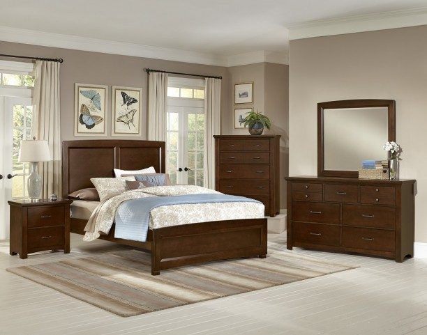 Transitions Cherry Panel Bedroom Set