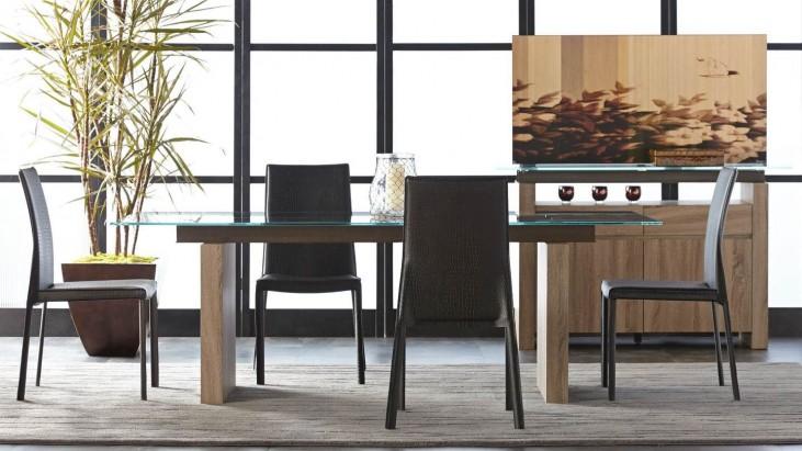Ritz Trave Driftwood Rectangular Dining Room Set