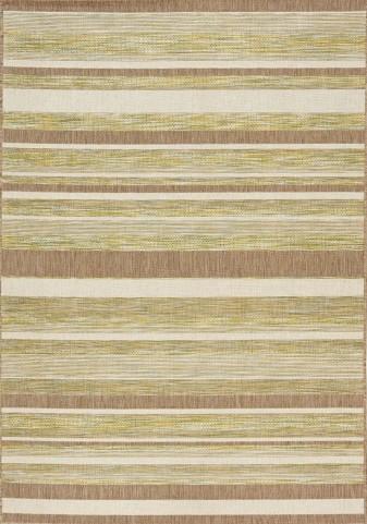 Trellis Green/Brown/Beige Stripes Flatweave Large Rug