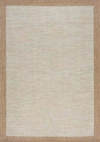 Trellis Grey/Brown Border Flatweave Large Rug