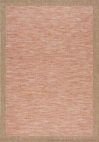 Trellis Red/Brown Border Flatweave Large Rug