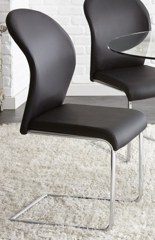 Tayside Faux Leather Side Chair Set of 2