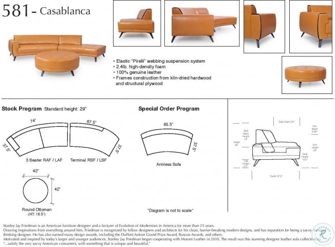 Incredible Casablanca Honey Leather Sectional Caraccident5 Cool Chair Designs And Ideas Caraccident5Info